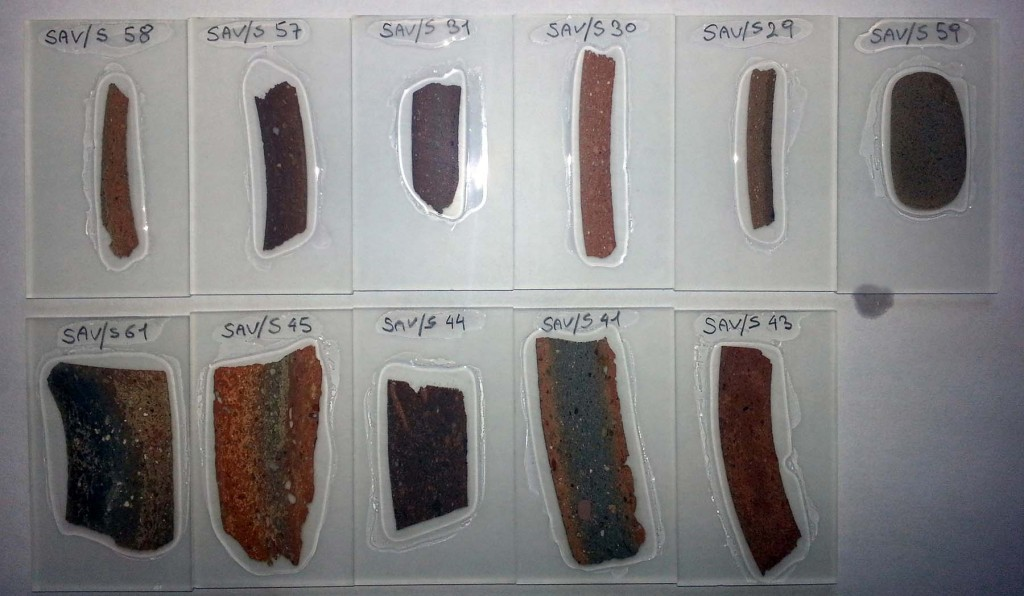First set of thin sections.