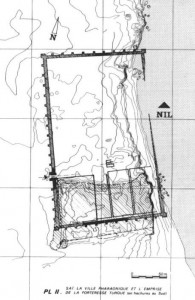 Presumed layout of the New Kingdom town of Sai after Azim 1975.