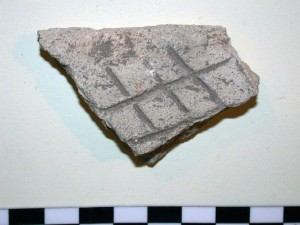 "Fragment of Marl ""bread tray"" from South Abydos"