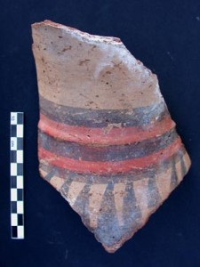 Bichrome painted jar fragment from Sai Island.