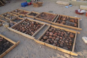 SAV1 West: 1000ds of diagnostic pottery sherds from the 18th Dynasty are still waiting for detailed processing!