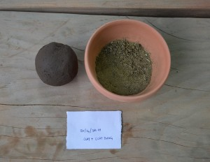 Clay type A and dung from goat.