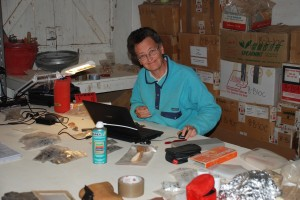 Elena Garcea at work on Sai Island (field season 2013).