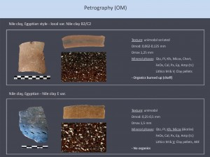 "Our joint application of petrography (OM) and iNAA shows some significant differences between ""Egyptian style"" and ""Egyptian"" vessels from Sai - work in progress!"