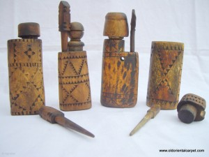 Moroccan Kohl pots.
